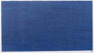 grande trame bleue sur noir chromatique