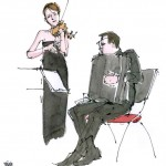 Félicien Brut à l'accordéon, Nina Skopek au violon