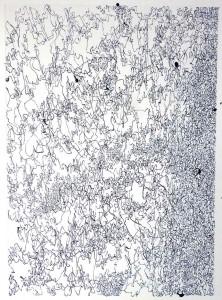 gouache et encre sur papier 50X36cm