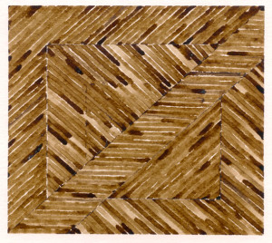 Café sur papier Arches (16,5X14,5)