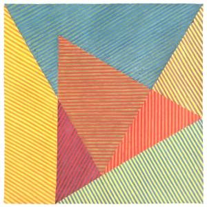 Geometrie Chromatique01 - (encre sur papier, 38x38)