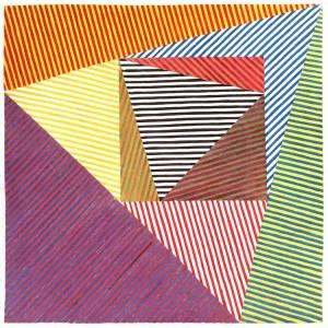 Geometrie Chromatique02 - (encre sur papier, 38x38)
